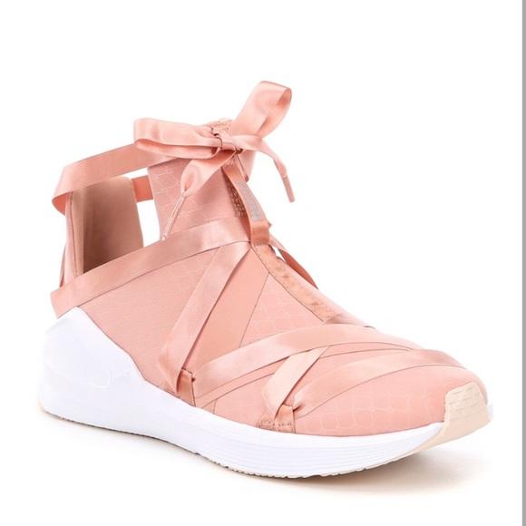 Puma Fierce Pink Ribbon Sneakers Nwob